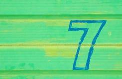 αριθμός επτά Στοκ φωτογραφία με δικαίωμα ελεύθερης χρήσης