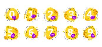 Αριθμός ημερών για να πάει τελευταίο εικονίδιο αντίστροφης μέτρησης διακριτικών διανυσματική απεικόνιση