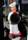 Αριθμός διαφήμισης για τα εστιατόρια: Ο μάγειρας Στοκ Φωτογραφίες
