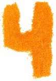 Αριθμός κίτρινων φακών σε ένα άσπρο υπόβαθρο Στοκ φωτογραφία με δικαίωμα ελεύθερης χρήσης