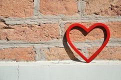 Αριθμός καρδιών για το τουβλότοιχο Στοκ εικόνες με δικαίωμα ελεύθερης χρήσης