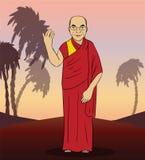 Αριθμός κινούμενων σχεδίων του βουδιστικού μοναχού διάνυσμα Στοκ Εικόνες