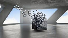 Αριθμός κύβων στο κομψό εσωτερικό Στοκ Εικόνες