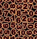 Αριθμός νέου στα κίτρινα και κόκκινα χρώματα στο μαύρο υπόβαθρο Άνευ ραφής διανυσματικό κεραμίδι, τολμηρό cipher πηγών απεικόνιση αποθεμάτων