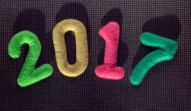 Αριθμός 2017 νέο έτος έννοιας Στοκ φωτογραφία με δικαίωμα ελεύθερης χρήσης