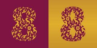 Αριθμός οκτώ floral, διάνυσμα Στοκ φωτογραφίες με δικαίωμα ελεύθερης χρήσης
