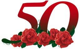 Αριθμός 50 λουλούδι διανυσματική απεικόνιση