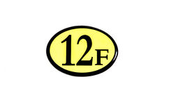 Αριθμός 12 πάτωμα Στοκ Εικόνα