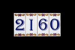 αριθμός πινακίδας αυτοκινήτου σπιτιών Στοκ Εικόνα