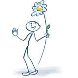 Αριθμός ραβδιών με ένα γλειφιτζούρι λουλουδιών Στοκ εικόνες με δικαίωμα ελεύθερης χρήσης