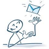 Αριθμός ραβδιών με την επιστολή και το ηλεκτρονικό ταχυδρομείο Στοκ Εικόνες