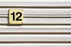 Αριθμός 12 σε έναν τοίχο Στοκ Εικόνα