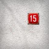 Αριθμός 15 σε έναν τοίχο Στοκ Φωτογραφία