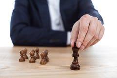 Αριθμός σκακιού εκμετάλλευσης επιχειρηματιών υπό εξέταση Στοκ Εικόνα