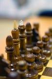 Αριθμός σκακιού, στρατηγική επιχειρησιακής έννοιας, ηγεσία, ομάδα και επιτυχία Στοκ Φωτογραφία