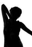 Αριθμός σκιαγραφιών μιας νέας γυναίκας Στοκ φωτογραφία με δικαίωμα ελεύθερης χρήσης