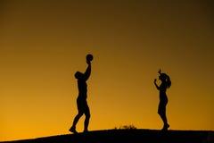 Αριθμός σκιαγραφιών των φορέων πετοσφαίρισης Στοκ εικόνες με δικαίωμα ελεύθερης χρήσης
