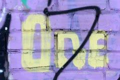 Αριθμός 1 αριθμός σπιτιών στον τοίχο ένας Στοκ Εικόνα