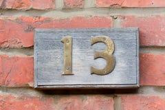 αριθμός 13 σπιτιών Στοκ φωτογραφία με δικαίωμα ελεύθερης χρήσης