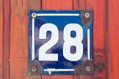 Αριθμός σπιτιών Στοκ Εικόνα