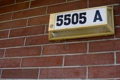 Αριθμός σπιτιών Στοκ φωτογραφία με δικαίωμα ελεύθερης χρήσης