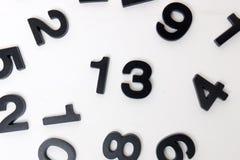13 αριθμός στο άσπρο υπόβαθρο Στοκ Εικόνες