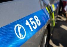 Αριθμός τηλεφώνου για την κλήση της αστυνομίας της Δημοκρατίας της Τσεχίας/Czechia στοκ φωτογραφία με δικαίωμα ελεύθερης χρήσης