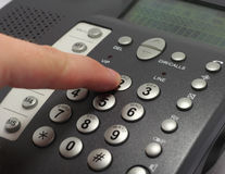 Αριθμός τηλεφώνου Dailing Στοκ Φωτογραφία
