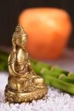Αριθμός του Βούδα στην περισυλλογή με το φως κεριών Στοκ Εικόνες
