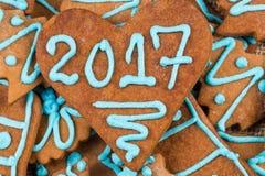 αριθμός του 2017 στο μπισκότο Στοκ Εικόνες