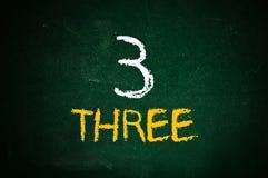 Αριθμός τρία στοκ φωτογραφίες με δικαίωμα ελεύθερης χρήσης