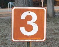 Αριθμός τρία στοκ φωτογραφίες