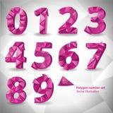 Αριθμός τριγώνων πολυγώνων που τίθεται στο άσπρο αφηρημένο υπόβαθρο EPS10 διανυσματική απεικόνιση ελεύθερη απεικόνιση δικαιώματος