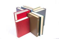 Αριθμός των βιβλίων με τις καλύψεις χρώματος Στοκ Φωτογραφίες