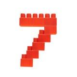 Αριθμός φιαγμένος από τούβλα οικοδόμησης παιχνιδιών Στοκ Φωτογραφίες
