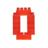 Αριθμός φιαγμένος από τούβλα οικοδόμησης παιχνιδιών Στοκ εικόνα με δικαίωμα ελεύθερης χρήσης