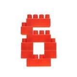 Αριθμός φιαγμένος από τούβλα οικοδόμησης παιχνιδιών Στοκ φωτογραφίες με δικαίωμα ελεύθερης χρήσης