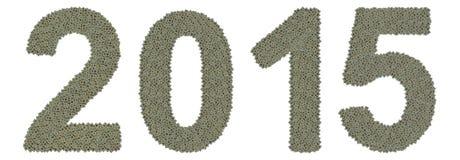 Αριθμός 2015 φιαγμένο από παλαιούς και βρώμικους μικροεπεξεργαστές Στοκ εικόνα με δικαίωμα ελεύθερης χρήσης