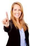 αριθμός χεριών χειρονομίας ένας Στοκ φωτογραφία με δικαίωμα ελεύθερης χρήσης