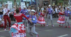 Αριθμός χορού στο ύφος Hipsters απόθεμα βίντεο