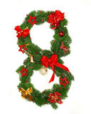 αριθμός Χριστουγέννων 8 αλ Στοκ Εικόνες