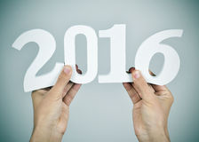 Αριθμός 2016, ως νέο έτος Στοκ Φωτογραφία