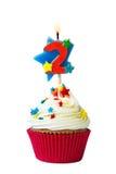 Αριθμός δύο cupcake Στοκ Εικόνα