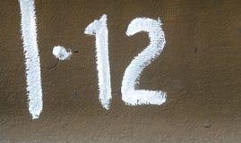 Αριθμός δώδεκα στο πιάτο metall Στοκ φωτογραφία με δικαίωμα ελεύθερης χρήσης