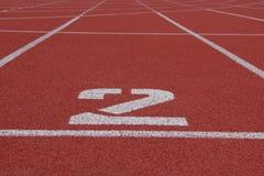 Αριθμός 2 τρέχοντας διαδρομή Στοκ φωτογραφίες με δικαίωμα ελεύθερης χρήσης