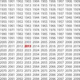 Αριθμός 2013 Στοκ εικόνες με δικαίωμα ελεύθερης χρήσης