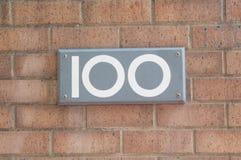 Αριθμός 100 Στοκ φωτογραφία με δικαίωμα ελεύθερης χρήσης