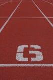 Αριθμός 6 τρέχοντας διαδρομή Στοκ εικόνες με δικαίωμα ελεύθερης χρήσης