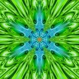 Αριθμός Arabesque στα πράσινα και μπλε, γεωμετρικά και floral σχέδια Μυστική και εικονική εικόνα Στοκ Φωτογραφία