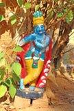 Αριθμός Krishna που γίνεται από το ασβεστοκονίαμα Ινδία Στοκ εικόνα με δικαίωμα ελεύθερης χρήσης